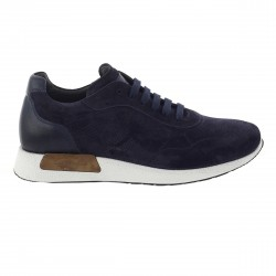 Sneakers Corvari in nabuk blu.