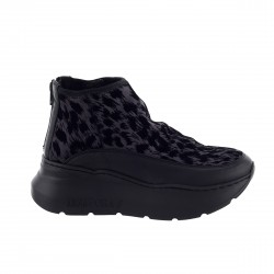 Sneakers in raso nero -...